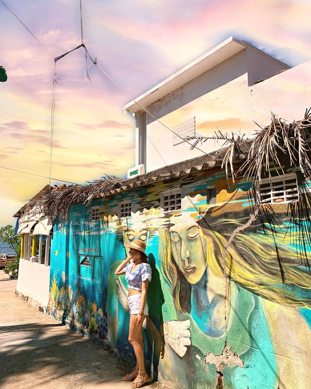 làng bích hoạ an bình lý sơn