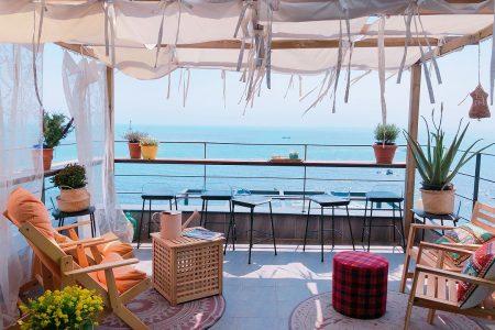 cà phê view biển